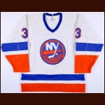 1983-84 Tomas Jonsson New York Islanders Stanley Cup Finals Game Worn Jersey - Photo Match