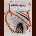 Martin Biron New York Islanders White Bauer Game Worn Catcher