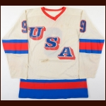 1980 Neal Broten Team USA Pre-Olympic Game Worn Jersey - Miracle On Ice