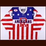 "2010-11 Chris Clackson Rochester Americans Game Worn Jersey – ""75-year AHL Anniversary"""