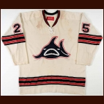 1973-74 Paul Hoganson WHA Los Angeles Sharks Game Worn Jersey