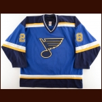 2005-06 Matt Walker St. Louis Blues Game Worn Jersey – Photo Match – Team Letter