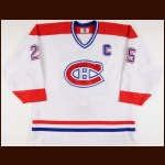 1997-98 Vincent Damphousse Montreal Canadiens Game Worn Jersey - Photo Match
