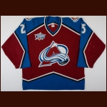 "2000-01 Shjon Podein Colorado Avalanche Game Worn Jersey – ""2001 Colorado All Star"" - Stanley Cup Season - King Clancy Memorial Trophy"