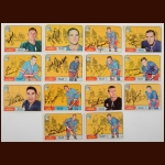 Lot of (14) 1968-69 OPC NY Rangers Autographed Cards – Includes Deceased and Hall of Famers