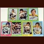 1973-74 Autographed Boston Bruins Card Group of 7