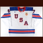 2014 Max Pacioretty Team USA Olympics Throwback Game Issued Jersey – USA Hockey Letter