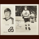 Ed Kea Atlanta Flames 8x10 B&W Autographed Photo – Deceased