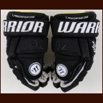 Gabriel Landeskog Colorado Avalanche Black Warrior Game Worn Gloves – 2016 Stadium Series