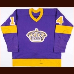 1976-77 Dave Schultz Los Angeles Kings Game Worn Jersey