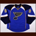 2013-14 Jaden Schwartz St. Louis Blues Game Worn Jersey - Photo Match – Team Letter