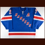 2003-04 Alexei Kovalev New York Rangers Pre-Season Game Worn Jersey