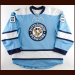 "2010-11 Andrew Hutchinson Pittsburgh Penguins Game Worn Jersey – Alternate - ""Consol Energy Inaugural Season"" – Team Letter"