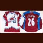 Joe Sakic Colorado Avalanche & Paul Stastny Autographed Colorado Avalanche Authentic Jerseys – The Patrick Roy Collection – Patrick Roy Letter