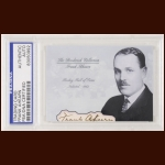 Frank Ahearn Autographed Card - The Broderick Collection - Deceased