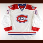 "2008-09 Mathieu Aubin Montreal Canadiens Game Issued Jersey – ""100-year Anniversary"" – ""2009 Montreal NHL All Star"" – Team Letter"