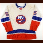 1973-74 Denis Potvin New York Islanders Game Worn Jersey – Rookie - Calder Trophy - Photo Match