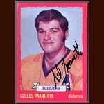 1973-74 Topps Gilles Marotte Los Angeles Kings - Autographed - Deceased