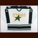 1998-99 Joe Nieuwendyk Dallas Stars Game Worn Jersey - Stanley Cup Season - Conn Smythe Season – Team Letter