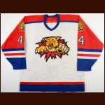 1996-97 Rejean Dufour Moncton Wildcats Game Worn Jersey