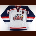 2002-03 Adam Sturgeon Saginaw Spirit Game Worn Jersey - Inaugural Season