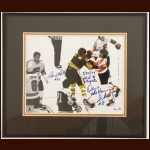 Dave Schultz Philadelphia Flyers & Terry O'Reilly Boston Bruins Autographed Photo – Hammer Enterprises COA