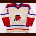 "Early 1970's Muskegon Mohawks Game Worn Jersey – Player #1 - Glenn ""Chico"" Resch Era"