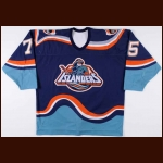 1995-96 Brett Lindros New York Islanders Game Worn Jersey – Fisherman Crest - Photo Match