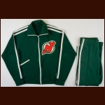 1980's New Jersey Devils Green Warm-Up Suit – Attributed to Coach Tom McVie