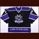 2000-01 Stu Grimson Los Angeles Kings Game Worn Jersey  - Team Letter