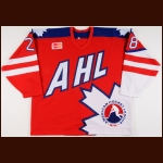 "1995-96 David Harlock AHL All Star Game Worn Jersey – ""60-year AHL Anniversary"""