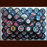 Lot of 80 Hall of Fame and Superstar Single Signed Autographed Pucks