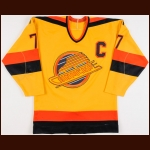 1987-88 Barry Pederson Vancouver Canucks Game Worn Jersey