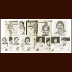 Atlanta Flames Autographed Group of (10) – Includes Deceased