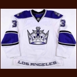 2009-10 Jack Johnson Los Angeles Kings Game Worn Jersey - Photo Match – Team Letter