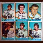 1974-75 OPC Autographed Sabres group of 6