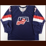 2016 Joey Anderson Team USA U18 World Championships Game Worn Jersey - USA Hockey Letter