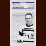 Herbie Lewis Autographed Card - The Broderick Collection - Deceased