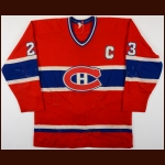 1981-82 Bob Gainey Montreal Canadiens Game Worn Jersey - 1st Year Captain's Jersey - Photo Match
