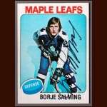 1975-76 OPC Borje Salming Toronto Maple Leafs - Autographed
