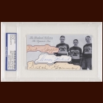 The Dynamite Line Autographed Card - Dit Clapper, Cooney Weiland, Dutch Gainor - The Broderick Collection - Deceased