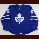 2007-08 Jason Blake Toronto Maple Leafs Game Worn Jersey - Photo Match – Team Letter