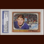 Vic Hadfield 1966 Topps – New York Rangers – Autographed – PSA/DNA
