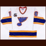 1991-92 Brett Hull St. Louis Blues Game Worn Jersey - Photo Match