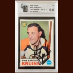 1969-70 Topps Phil Esposito Boston Bruins Autographed Card