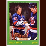 1973-74 Topps Billy Smith Islanders - Rookie - Autographed