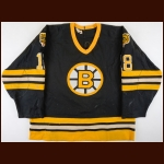 1984-85 Keith Crowder Boston Bruins Game Worn Jersey - Photo Match
