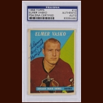 Elmer Vasko 1958 Topps – Blackhawks – Autographed – Deceased – PSA/DNA
