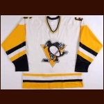 1981 Errol Thompson Pittsburgh Penguins Pre Season Game Worn Jersey