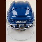Petr Sykora Edmonton Oilers Blue Nike/Bauer Game Worn Helmet – Itech Faceshield - Mark Messier Night – Team Letter